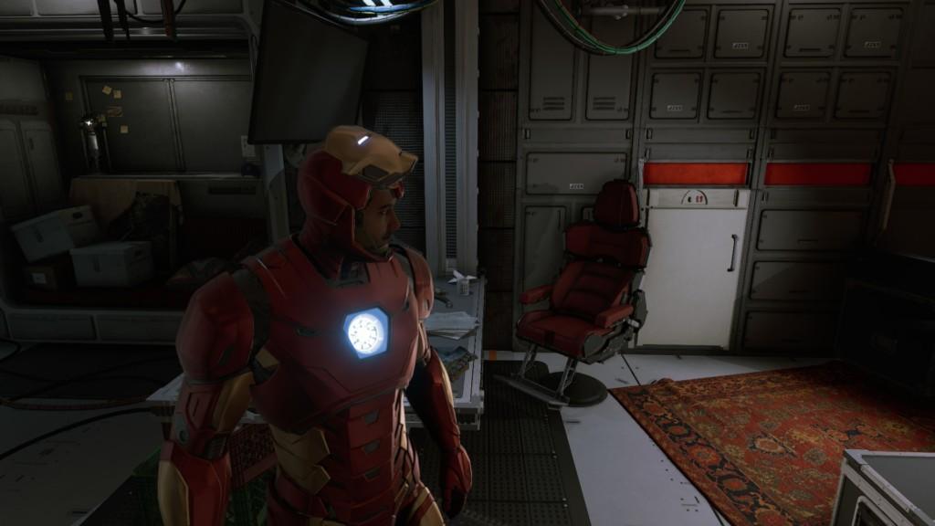 Tony in neuer Rüstung im Quartier der Chimera